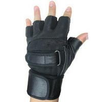 Semi-finger sheepskin gloves