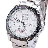 Hot Sell Fashion Brand Suppliers Promotion Men's Business Casual Luxury Sports Waterproof Steel Quartz Watch LONGBO