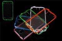 1PCS Florescent light case PC clear cover Series Hard Case for Samsung Galaxy S5 i9600 Luminous Cover free shipping
