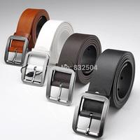 New Mens Genuine Real Leather fashion Belt for men Alloy Buckle 4 colors cowskin split leather Cintos cinturon cinto de couro