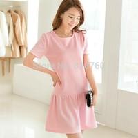 Qct 2014 women's one-piece dress summer short-sleeve dress plus size clothing