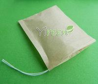 Free shipping! 1000pcs/lot  60 X 80mm pulp color Filter paper, Empty tea bag, Single drawstring tea bag, Herbal bags-coffee bags
