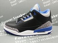 sport blue 3s men's basketball  shoes 136064-004