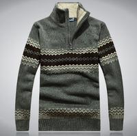 2014 Men'S Winter High Quality Genuine Lapel Pullover Man Sweaters Men'S Plus Sizes Flowers Knitwear Men'S Clothing XG3-17