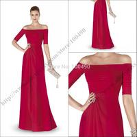2015 Newest Design ALEJANDRA Elegant Sexy Off Shoulder Formal Evening Gowns Short Sleeves Evening Dresses