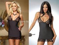 2014New Hot Sale Attractive Sexy Woman Secretary Dress Black Lace Vertical Striped Sexretary Uniform Lingerie Babydoll Sleepwear