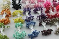 Free shipping wholesale Multicolor DIY Glass flower stamen cake decoration and DIY pistil stamen(900pcs/Lot )