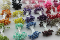 Free shipping wholesale Multicolor DIY Glass flower stamen cake decoration and DIY pistil stamen(900pcs/Lot )
