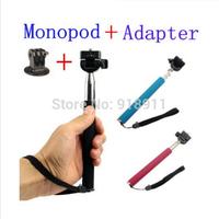 Gopro Tripod Accessories Aluminium Handheld Monopod Tripods Mount Adapter For Gopro Hero Camera 1 2 3 SJ4000