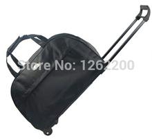 viaje de los hombres bolsas equipaje rodante bolsa carrito con ruedas de viaje impermeable maletín negro para hombre de alta calidad al por mayor(China (Mainland))