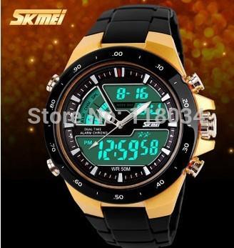SKMEI Men Sports Watches Waterproof Fashion Casual Quartz Men's Watch Digital Man Analog Military Multifunctional Wristwatches(China (Mainland))