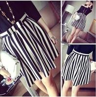 XS-2XL Maxi New Fashion European Style Striped Bow Casual Skirt  2014 Autumn Summer Cotton Blend Women's  Good Quality  NL188