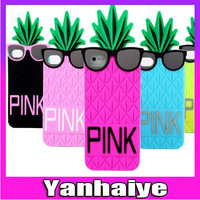 Victoria/'s Pineapple 3D Silicone Case Secret for iPhone 5 Silicon Cover Case for iPhone 5g Free Shipping