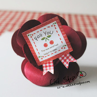SW005 Cute Cherry For You Bow Sticker seal sticker paste gift stickers decoration stickers 90pcs/lot Free shipping