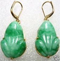 free shipping Elegance Stylish Green Jade Earring 2pair/lot fashion jewelry