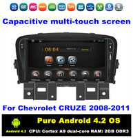 HD 7 inch Dual-zone Pure Android 4.2 Car DVD Car PC for Chevrolet Cruze 2008-2011 With GPS BT IPOD 3G/WIFI Radio / RDS AUX IN