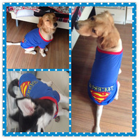 The classic Superman 4XL 5XL big dog clothes golden husky Samoye clothes cotton