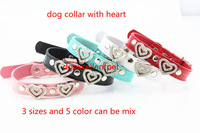 pet products 5color 3sizes  dog necklace free shipping 20pcs/lot