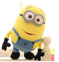 Free shipping,Despicable me 3D Eyes Plush Toy 18cm Minions Stuffed Jorge Stewart Dave minion toy stuffed doll HT404