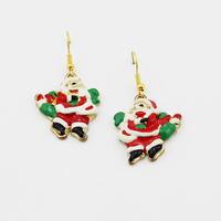 Christmas earrings High quality ! Fashion Christmas old man earrings earrings for women Free shipping