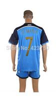 China Cheap Supply Argentina Away #7 DI Maria 2014 Soccer Set Brazil World Cup 2014 Men Football Jersey Shirt & Short