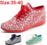 2014 Women height increasing flats shoes Zebra print block decoration high-top shoes lacing flat canvas shoe Sneakers