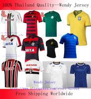 A+++ Brazil FC For Sale Soccer Jersey Flamengo Fluminense Sao Paulo Recife SAINT PAUL Palmeiras Cruzeiro 14 15 Thai Futbol Shirt
