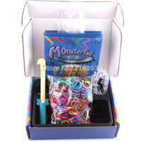1 set/lot MonsterTail Mini Loom Kit for Bracelet Rubber Loom Bands Crafting Kit Monster Tail Loom Kit Bands Free Shipping