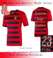 A+++  New SPORT RECIFE Top Men Thailand Futbol Camisa Blouse 2014 Soccer Jersey Brazil Camisetas De Kit Custom Name
