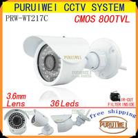 "100% Original 1/4"" CMOS 800TVL IR-CUT Filter 36pcs F5 IR HD Day/night outdoor/indoor waterproof CCTV Camera with bracket."