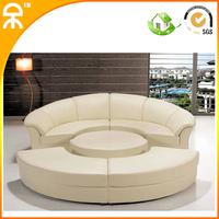 ( 2 pcs coner sofa +1round ottoma +2pcs coner ottoma/lot) 3colors combinational sofa set for reception room #CE-JB335
