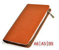 High Quality A5 A6 B5 notepad Spiral leather Business Notebook Stationery  Diary