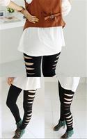 Sexy Hollow Out New Spring 2014 Leggings For Women Punk Jeans Women Legging Fashion Footless Leggings Sport Leggins Girl Pant