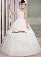 Free shipping wedding dress 2014 new Korean version of sweet princess shoulder straps Qi wedding flowers