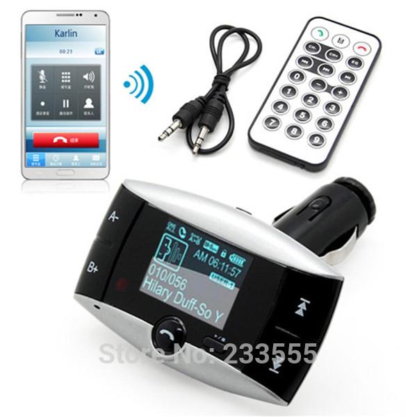NEW Bluetooth FM Transmitter Car Kit MP3 Player Hands Free Phone SD/MMC/USB + Remote(China (Mainland))