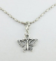 2014 Hot Sell Butterfly  Dangle for Floating Charm Living Locket Chains & Charm pendant & Bracelets  e775 (Minimum order $10)