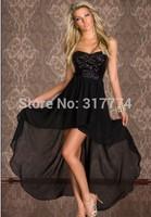 Wholesale Free Shipping Women Sexy Dress Party Dress Clubwear  black, light -yellow N130