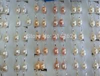 wholesale lots 36pairs 9mm multicolor freshwater pearl earring Silver spoons ear hook 04/