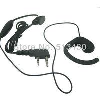50X Two way radio earpiece/earphone/headset mic. with inline PTT/Microphone for Kenwood Baofeng uv5r 888s wouxun Puxing intercom