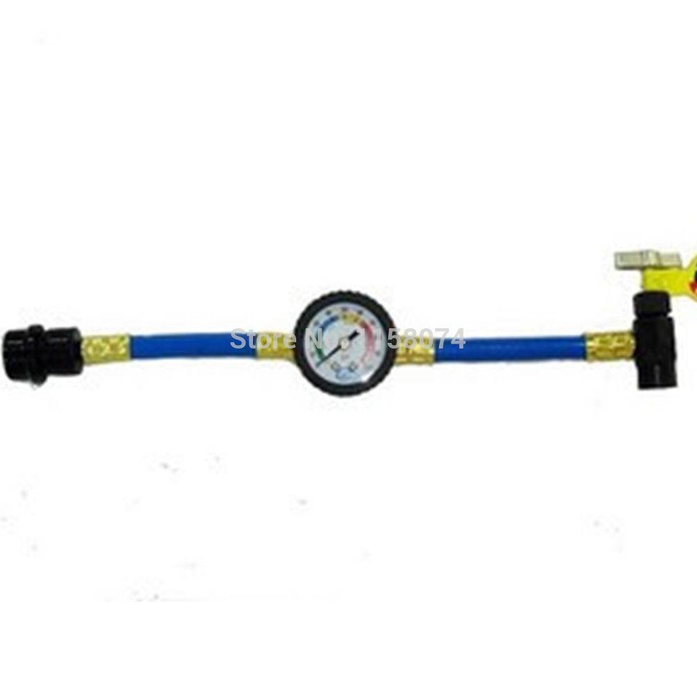Автомобильные держатели и подставки RECHARGE MEASURING KIT A/C CONDITIONING GAUGE SYSTEM HOSE + r134a recharge measuring hose gauge adapter a c refrigerant charging pipe