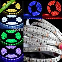 30M (6pcs X 5M) 5050 SMD RGB 5M 300 LED12V DC  Waterproof Flexible Strip Light Variety of color 500CM Flexible  free  shipping