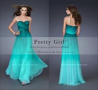 vestidos de fiesta 2014 gradient color special design prom dress sweetheart strapless elegant hottest prom dress customer made