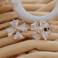 New women earrings for 2014 Sparkling zircon crystal jewelry female earrings sparkling full fashion accessories stud earring