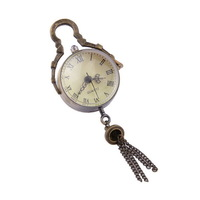 Concave-Canex Lens Fisheye Glass Ball Retro Pocket Watch-White