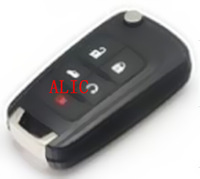 high quality Buick  4+1 buttons car remote key(HU100) with free shipping