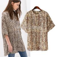 Free shipping !  2014 Girls Women's  Fashion Snake  Pattern Branded Dress ladies fashion dress evening dress