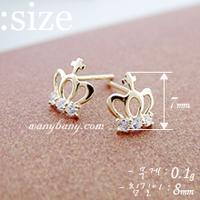 2014 new arrivals Korean jewelry cute cros, crown earrings wholesale YT0345