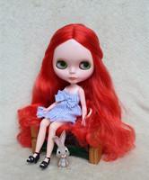 Free Shipping hot sale TB-R76 Nude Blythe doll lovely DIY toy birthday gift for girls fashion 4  big eyes dolls beautiful Hair