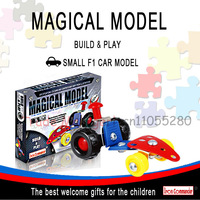 F4 racing model, the education of children assembled type 3D puzzle toys, metal car model toy assembly gift