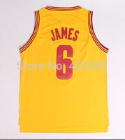 Free Shipping!!!  Cleveland # 6 LeBron James Regression Basketball Jersey Cleveland Jersey S-XXL